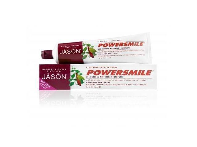 Powersmile Cinnamon Mint Toothpaste - Jason Natural Cosmetics - 6 oz - Paste