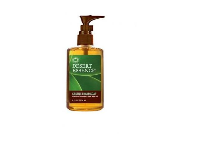 Castile Tea Tree Liquid Soap - Desert Essence - 8 oz - Liquid