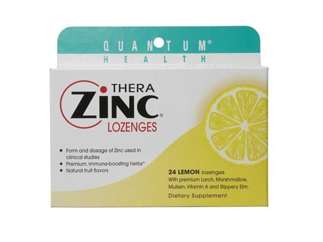 Quantum Research 709303 Therazinc Cold Season Plus Lozenges Lemon 14 Mg 24 Lozen