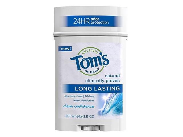 Long Lasting Mens PGF Wide Stick Deodorant-Clean Confidence 24 Hour - Tom's Of Maine - 2.25 oz - Stick