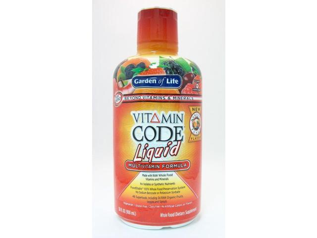 Vitamin Code Liquid- Fruit Punch - Garden of Life - 30 oz - Liquid