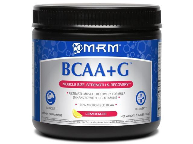 BCAA + G Ultimate Recovery Formula Lemonade Flavor - MRM (Metabolic Response Modifiers) - 180 g - Powder