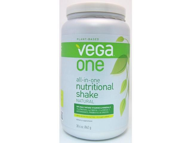 Vega One All-in-One Nutritional Shake - Natural - SeQuel - 30.4 oz - Powder