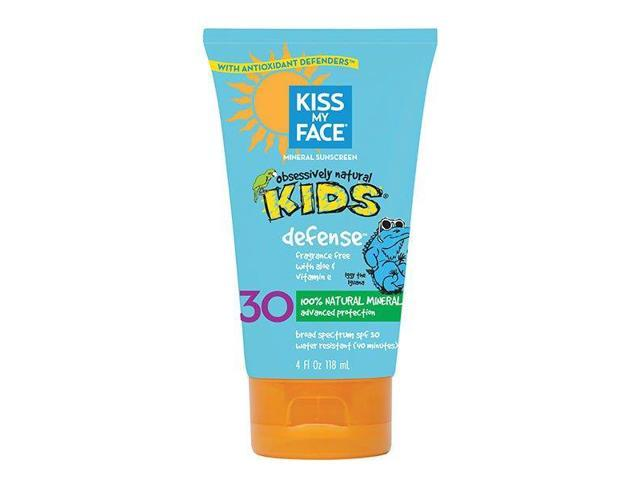 Kiss My Face - Natural Mineral Sunblock Lotion - 4 Oz ( Multi-Pack)