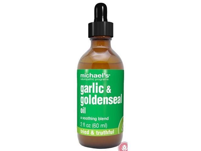 Garlic and Goldenseal Oil - Michael's Naturopathic - 2 oz - Liquid