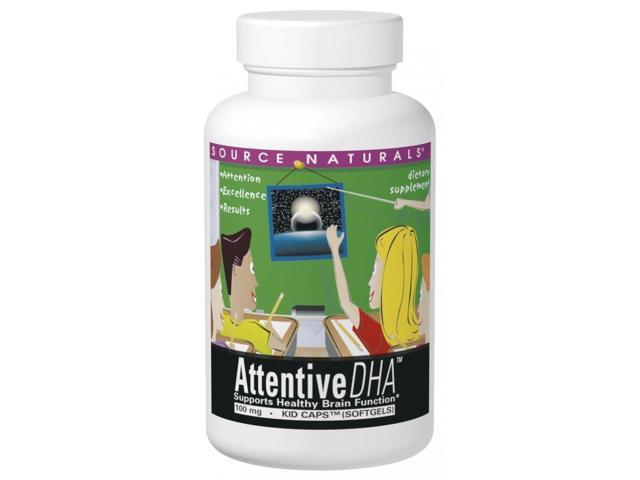 Attentive DHA Kids Caps Neuromins 100mg - Source Naturals, Inc. - 30 - Softgel