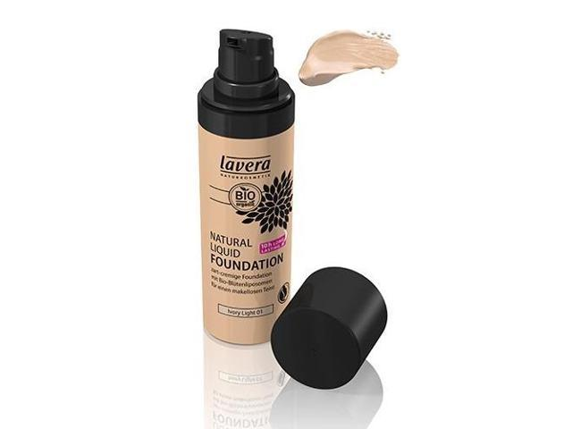 Trend Sensitive Natural Liquid Foundation-Ivory Light #1 - Lavera Skin Care - 1 oz - Liquid