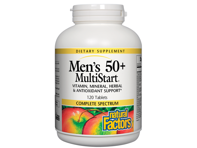 Multi-Start Men's 50+ - Natural Factors - 120 - Tablet