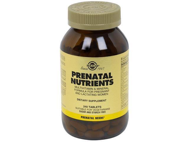 prenatal nutrients solgar инструкция