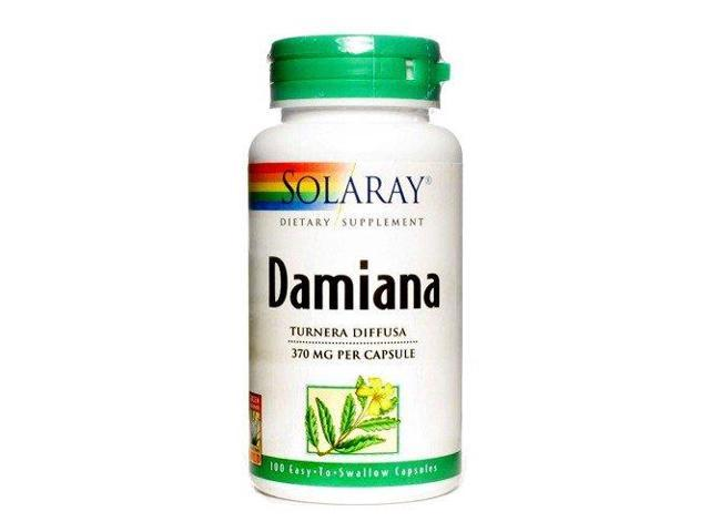Damiana Leaves 370mg - Solaray - 100 - Capsule