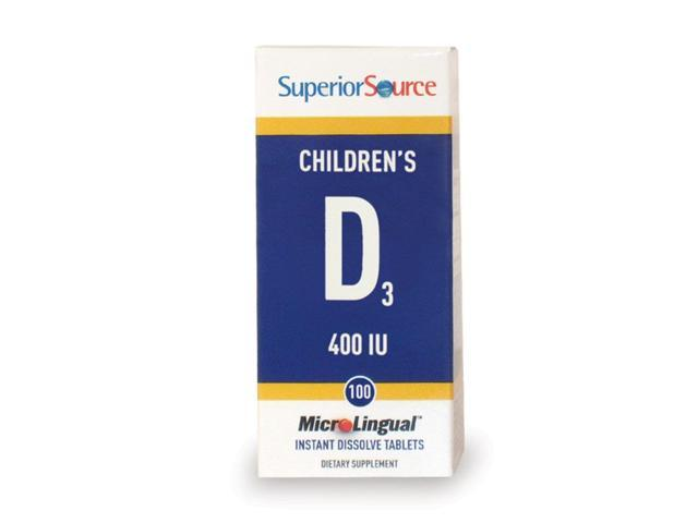 Children's D - Superior Source - 100 - Sublingual Tablet