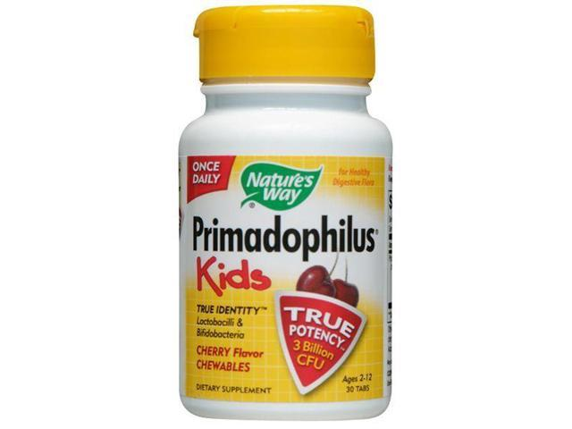 Primadophilus Kids Chewable Cherry - Nature's Way - 30 - Chewable