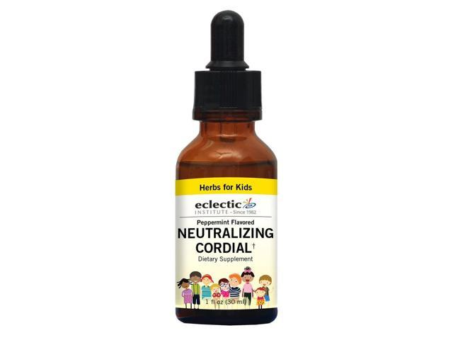 Kids Neutralizing Cordial Peppermint Alcohol Free - Eclectic Institute - 1 oz - Liquid
