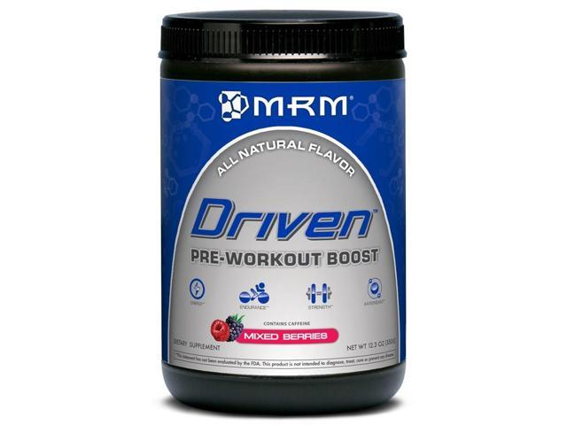 Driven Pre-Workout Boost Powder All Natural-Mixed Berries - MRM (Metabolic Response Modifiers) - 350g - Powder