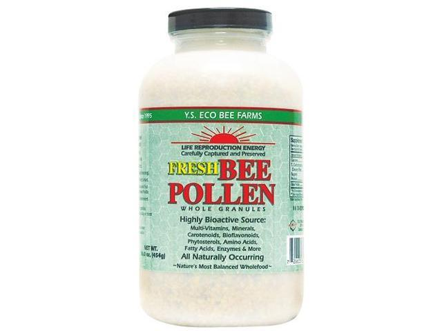 Fresh Bee Pollen Whole Granules - YS Eco Bee Farms - 16 oz - Granules