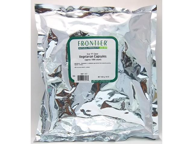 Capsules Vegetarian 0 - Frontier Natural Products - 1000 Count - Bag