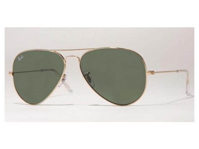 Ray Ban RB 3025 L0205 Arista Gold/Green G-15 Unisex Aviator Sunglasses 58mm