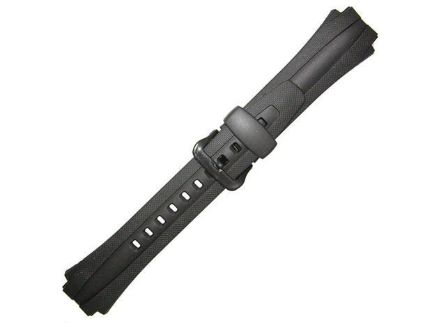 Casio 17mm Black Resin Genuine Replacement Band for AQ163W - OEM