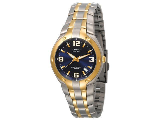 Casio Men's EF106SG-2AV Edifice 10-Year Battery Analog Bracelet Watch