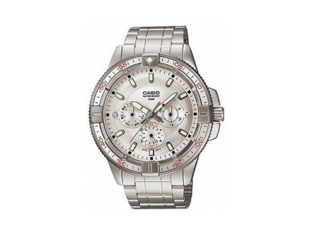 Casio Men's MTD1068D-7AV Silver Stainless-Steel Quartz Watch with Silver Dial