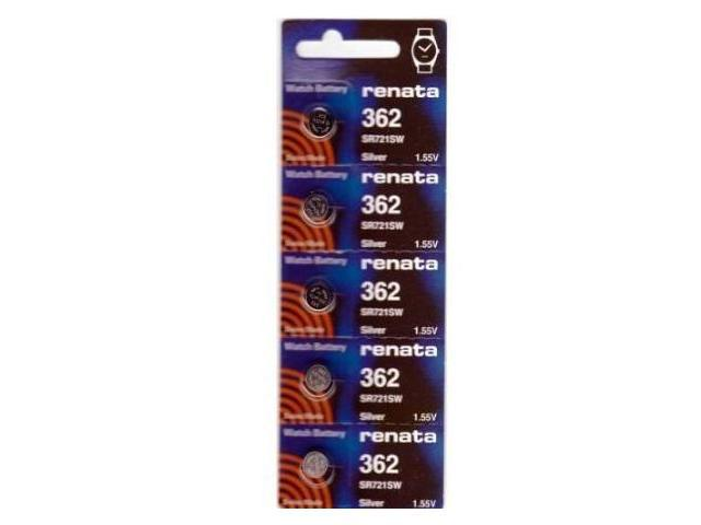 Renata Battery 362 SR721SW Silver 1.55v (5 Batteries Per Pack)