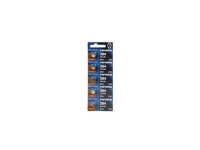 Renata Battery 384 SR41SW Silver 1.55v (5 Batteries Per Pack)