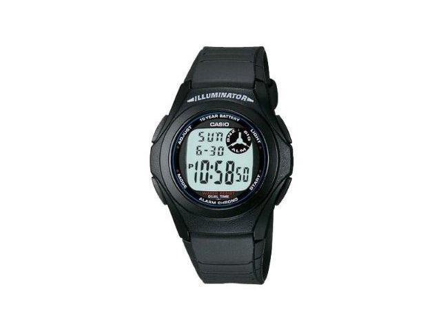 Casio #F200W-1A Men's Chronograph Alarm Illuminator Watch