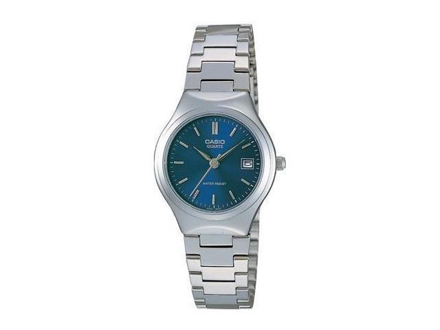 Casio #LTP-1170A-2A Women's Metal Fashion Blue Dial Analog Watch