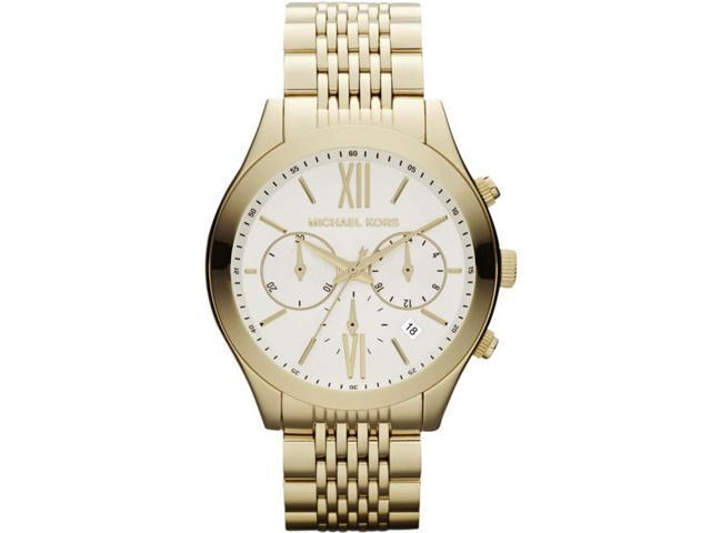 Michael Kors #MK5762 Women's Brookton Golden Stainless Steel Chronograph Watch