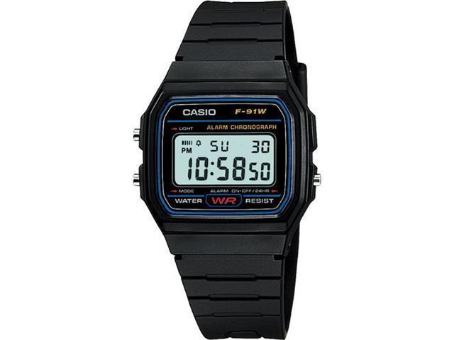 Casio #F91W-1 Men's Classic Chronograph Alarm LCD Digital Watch
