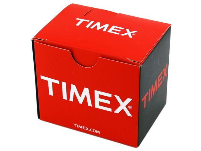 Timex Men's T20491 Black Leather Quartz Watch with White Dial