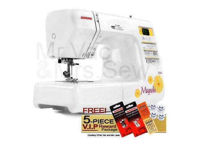 Janome 7330 Computerized Sewing Machine w/ FREE! 5-Piece V.I.P Reward Package