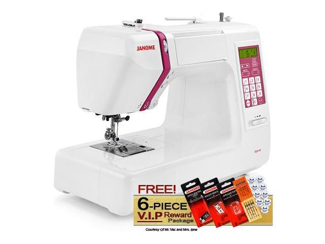 Janome DC5100 Computerized Sewing Machine w/ FREE! 6-Piece V.I.P Reward Package