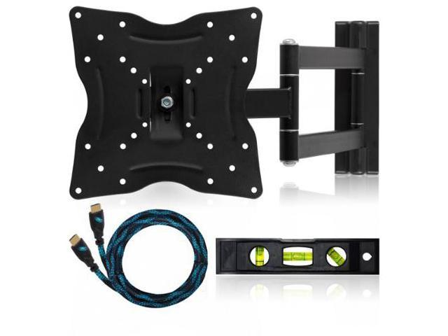 Cheetah Mounts ALAMLB LCD TV Wall Mount Bracket with Full Motion Swing Out Tilt and Swivel Articulating Arm for 23-37