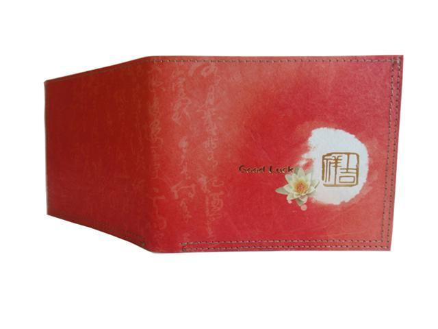Mighty Tear-resistant Wallet, Chinese Calligraphy with extended Lotus Blessing