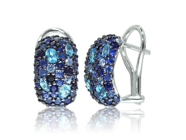 Effy Jewelers Balissima Mix Stone Earrings in Sterling Silver, 4.20 TCW.