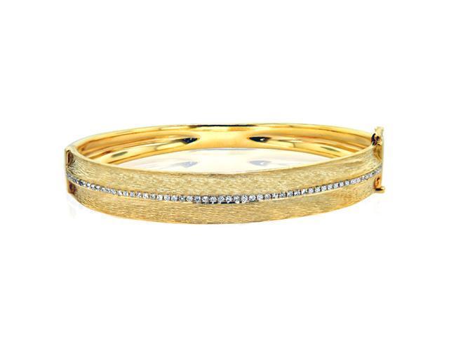 Effy Jewelers Effy Textures Diamond Bangle in 14k Yellow Gold, 0.50 Tcw.