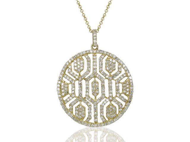 Effy Jewelers Effy 14k Yellow Gold Diamond Lace Pendant,1.25 Tcw.