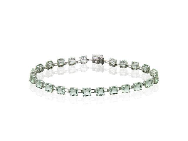 Effy Jewelers Effy  Green Amethyst Tennis Bracelet in 14k White Gold, 17.10 TCW.