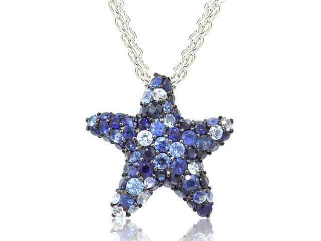 Effy Jewelers Balissima Starfish Sapphire Pendant in Sterling Silver, 2.80 TCW.