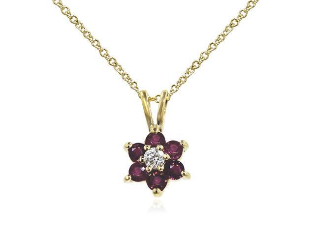 Effy Jewelers Effy 14K Yellow Gold Diamond and Ruby Pendant, .53 Tcw.
