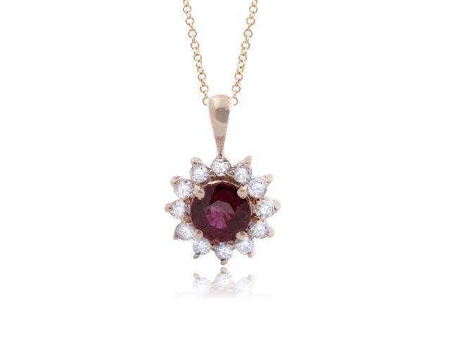 Effy Jewelers Effy 14K Rose Gold Diamond and Ruby Pendant, 1.35 Tcw.