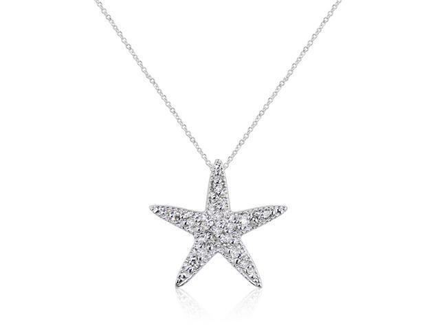 Effy Jewelers Effy 14K White Gold Diamond Star Necklace, .16Tcw.