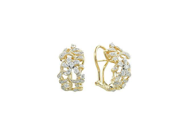 Effy Jewlery Moderna 14K Yellow Gold Diamond Earrings, .39 TCW