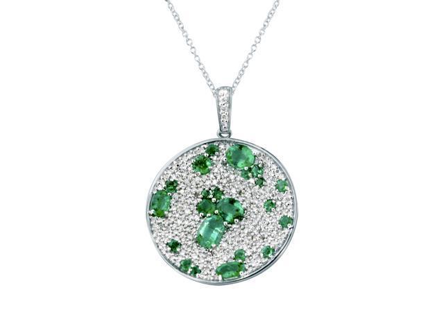 Effy Jewlery Gemma Emerald and Diamond Pendant, 3.54 TCW