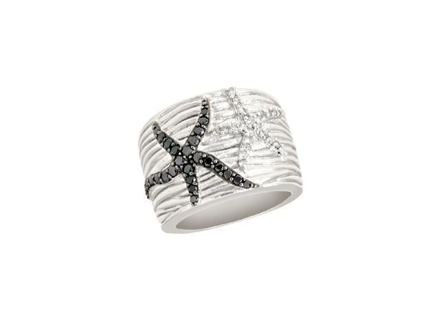 Effy Jewelry Balissima Textures Black Diamond Ring, .64 TCW  Size 7