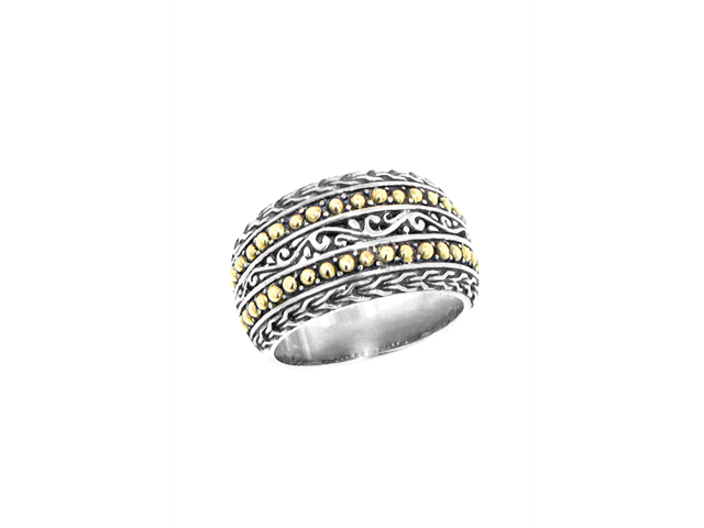 Effy Jewelry Balissima Gold and Silver Ring  Size 7