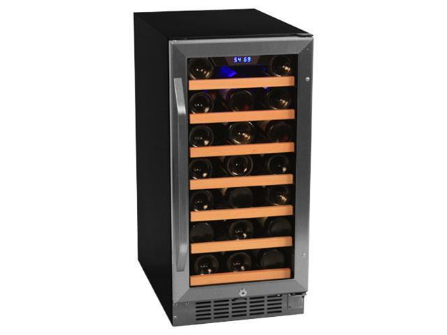 EdgeStar CWR301SZ 30 Bottle Built-In Stainless Steel Wine Cooler