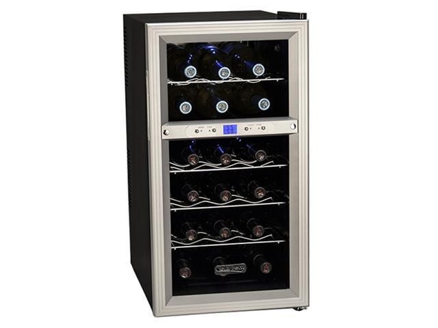 Koldfront 18-Bottle Dual Zone Thermoelectric Wine Cooler - Silver/Black