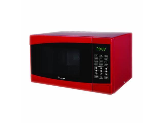 Magic Chef 0.9 Cubic Foot 900 Watt Microwave - Red